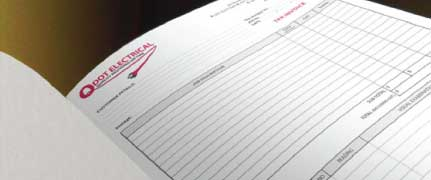 invoice books printking
